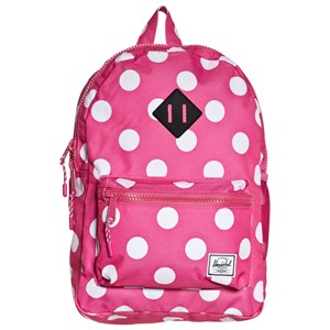 Image of Herschel Heritage Youth Backpack Polka Dot/Fandango Pink (3125289739)