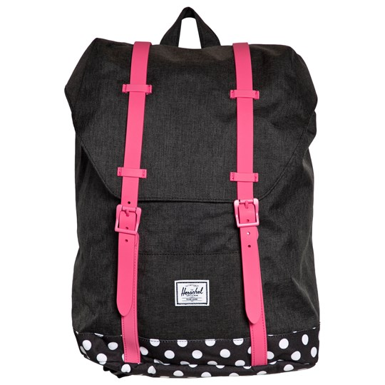 Herschel Retreat Youth Backpack Black Crosshatch/Polka Dot/Fandango Pink Black Crosshatch/Polka Dot/Fandango Pink