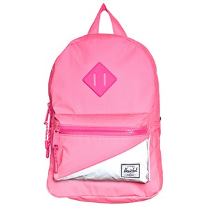 Image of Herschel Heritage Kids Backpack Neon Pink/Silver Reflective (3125274629)