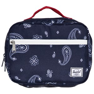 Image of Herschel Pop Quiz Lunch Box Bandana Paisley Peacoat/Barbados Cherry One Size (1136916)