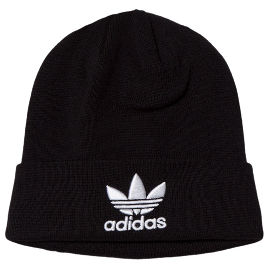 adidas Originals Black Trefoil Logo Beanie Black