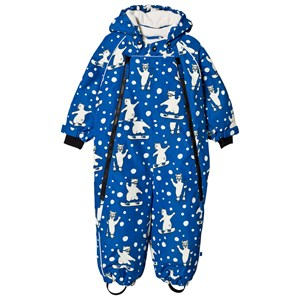 Småfolk Blue Snowboarding Polar Bear All in One Winter Coverall 6-12 months