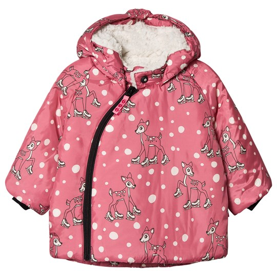 Småfolk Long Padded Winter Jacket Pink Rapture Rose