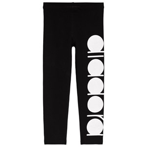 Image of Diadora Black and White Glitter Branded Leggings S (8 years) (3125276203)