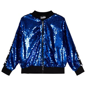 Image of Diadora Blue Sequin Bomber Jacket XXS (4 years) (1115092)
