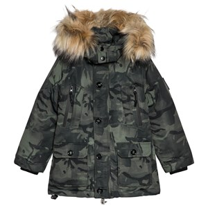 Image of Diadora Green Camouflage Technical Hooded Parka XXL (16 years) (1115140)
