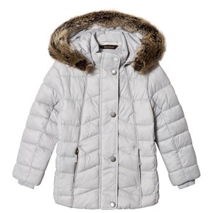 Image of Barbour Ice White Bernera Padded Faux Fur Hooded Coat XS (4-5 years) (3125314805)