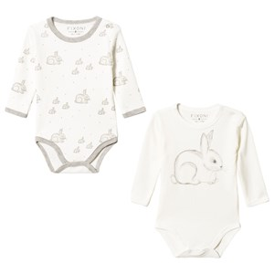 Image of Fixoni Hush Baby Body 2-Pack Off White 56 cm (1-2 mdr) (3125243635)
