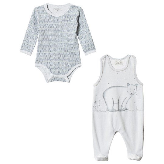 Fixoni Hush Baby Body and One-Piece 2-Pack Soft Blue Soft Blue