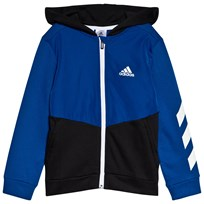 adidas Performance Black   Blue Branded Hoodie collegiate royal black REFLECTIVE  SILVER 0fde35557e