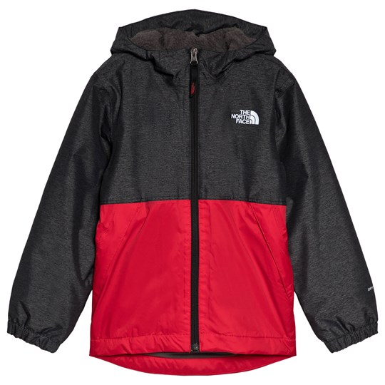The North Face Red & Black Micro Fleece Lined Warm Storm Jacket BLACK HEATHER