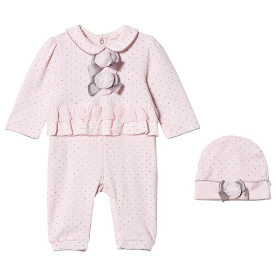 Mintini Baby Pink One-Piece with Frill Detail Pink/Grey