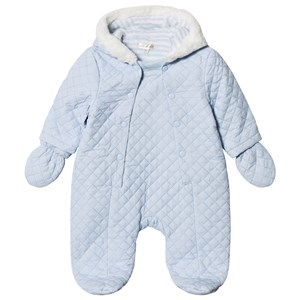 Image of Mintini Baby Blue Quilted Coverall with Fur Trim Collar 3 mdr (3125235543)