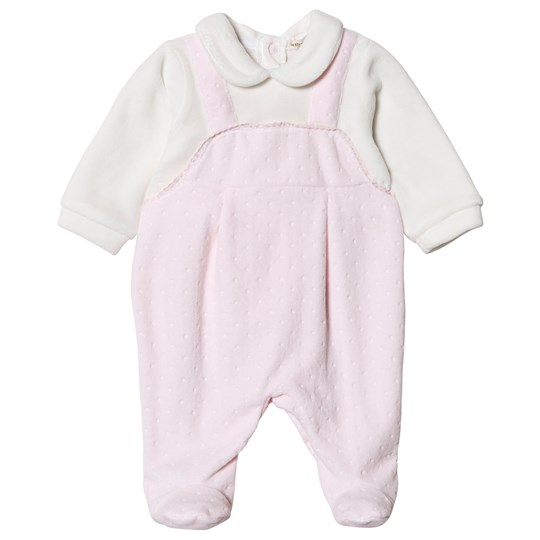 Mintini Baby Pink and White Footed Baby Body Pink/White