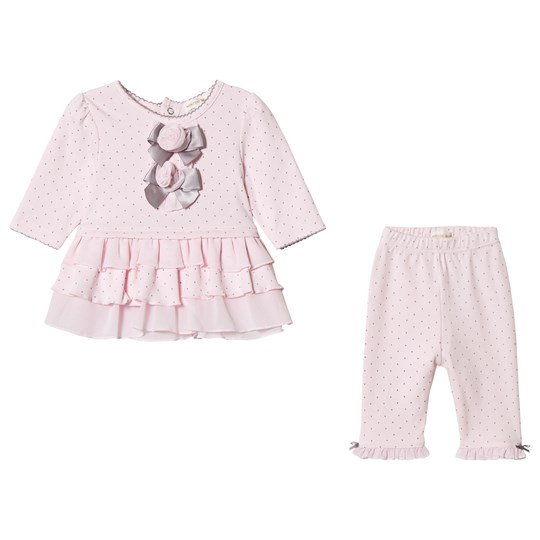 Mintini Baby Pink Frill Top with Legging Pink/Grey