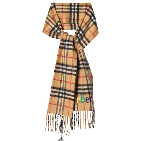 Burberry Antique Yellow Mini Classic Scarf with Archive Logo ANTIQUE YELLOW