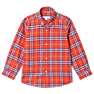 Image of Burberry Fred Check Shirt Orange/Red 12 years (3140443499)