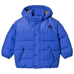 Burberry Royal Blue Ezra Puffer Jacket