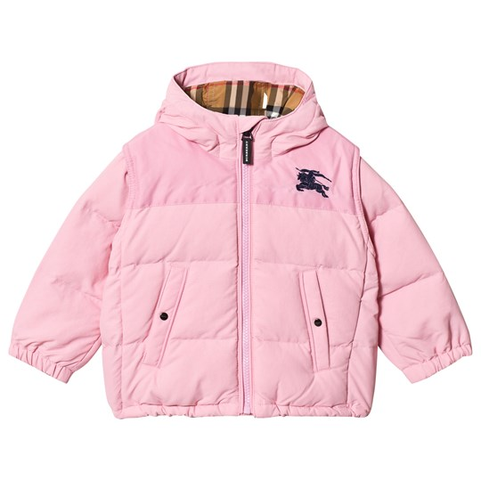 Burberry Ice Pink Mini Ezra Hooded Coat Ice Pink
