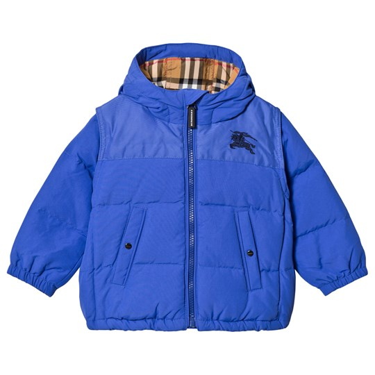 Burberry Royal Blue Ezra Padded Jacket Blue