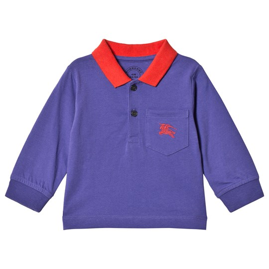 Burberry Blue & Red Branded Polo Shirt BRIGHT SAPPHIRE BLUE