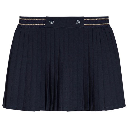 Cyrillus Navy Pleated Skirt 6399
