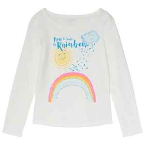 Image of Lands' End White Rainbow Tee 8-9 years (3125284961)