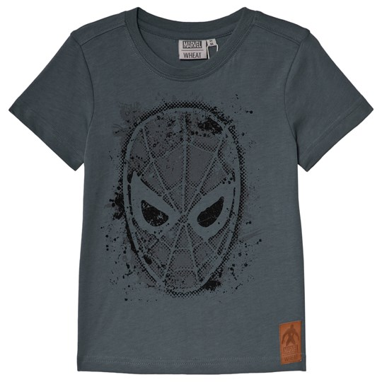 Wheat Stormy Weather Spiderman Face T-Shirt Stormy Weather