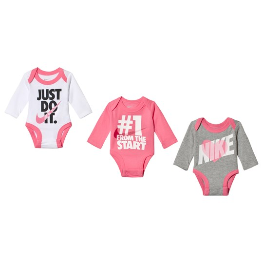 NIKE 3-Pack Rose Just Do It Baby Body Set 000