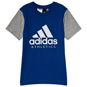 Image of adidas Performance Blue Branded T-Shirt 11-12 years (152 cm) (1127133)