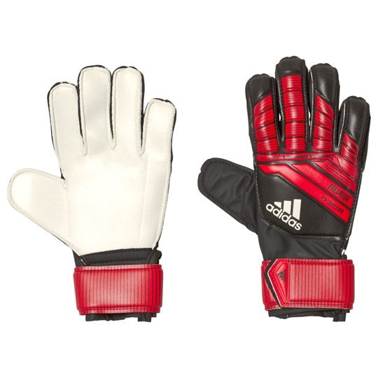 adidas Performance Black and Red Predator Fingersafe® Goalkeeper Gloves black/red/white