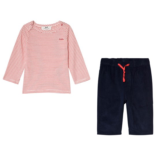 Cyrillus Red Striped Tee with Navy Bottoms 6668