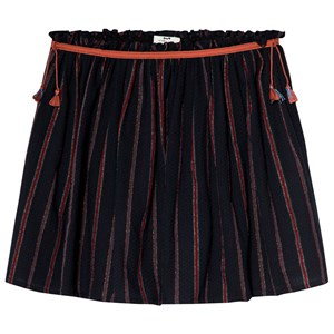 Image of Cyrillus Black and Red Striped Skirt 10 years (3125279931)
