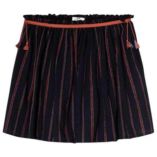 Cyrillus Black and Red Striped Skirt 4640