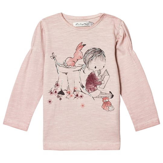Minymo Long Sleeve T-Shirt with Girl Print Peachskin Peachskin