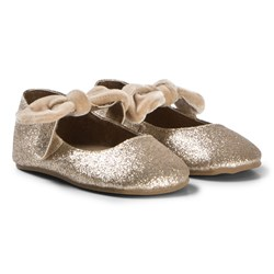 Petit by Sofie Schnoor Champagne Glitter Indoor Shoes
