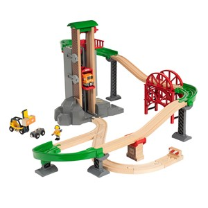 Image of BRIO BRIO® World – 33887 Lift & Load Warehouse Set 3 - 8 years (3127536217)