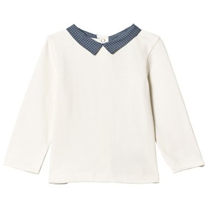 Image of Cyrillus Cream Tee with Stripe Collar 6 months (1175255)