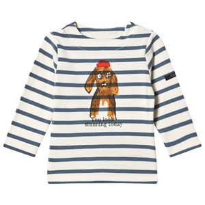 Image of Cyrillus Blue and White Dog Print Tee 6 months (3125292085)
