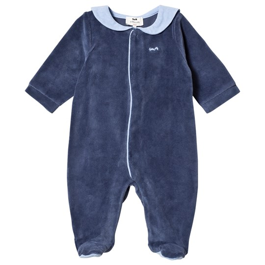Cyrillus Navy and Blue Footed Baby Body and Toy 6389