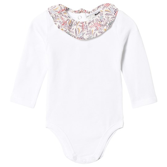 Cyrillus White Baby Body with Frill Collar 6349