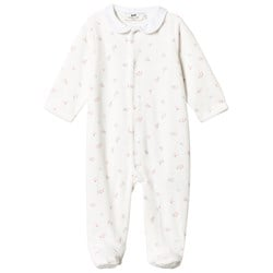 Cyrillus White Velour Footed Baby Body
