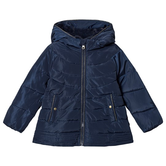 Cyrillus Navy Hooded Puffa Jacket 6399