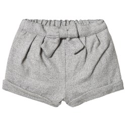Cyrillus Grey Flannel Shorts with Bow
