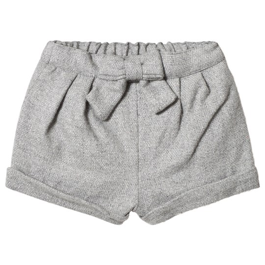 Cyrillus Grey Flannel Shorts with Bow 6423