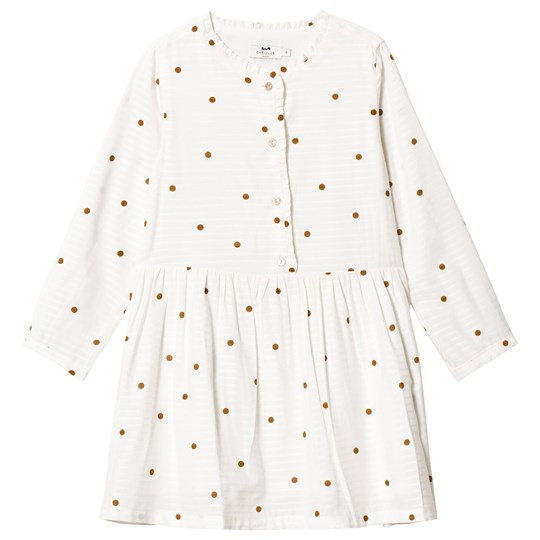 Cyrillus Cream and Red Dotty Dress 6366
