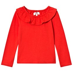 Cyrillus Red Frill Shirt