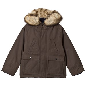 Image of Cyrillus Olive Parka with Faux Fur Trim Hood 10 years (1175798)