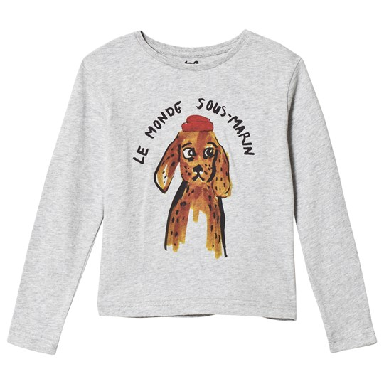 Cyrillus Grey Fisherman Dog Graphic Tee 6443