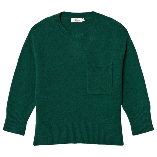 Cyrillus Forest Green Knit Sweater 6698
